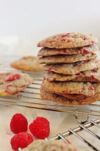 White Chocolate & Raspberry Cookies