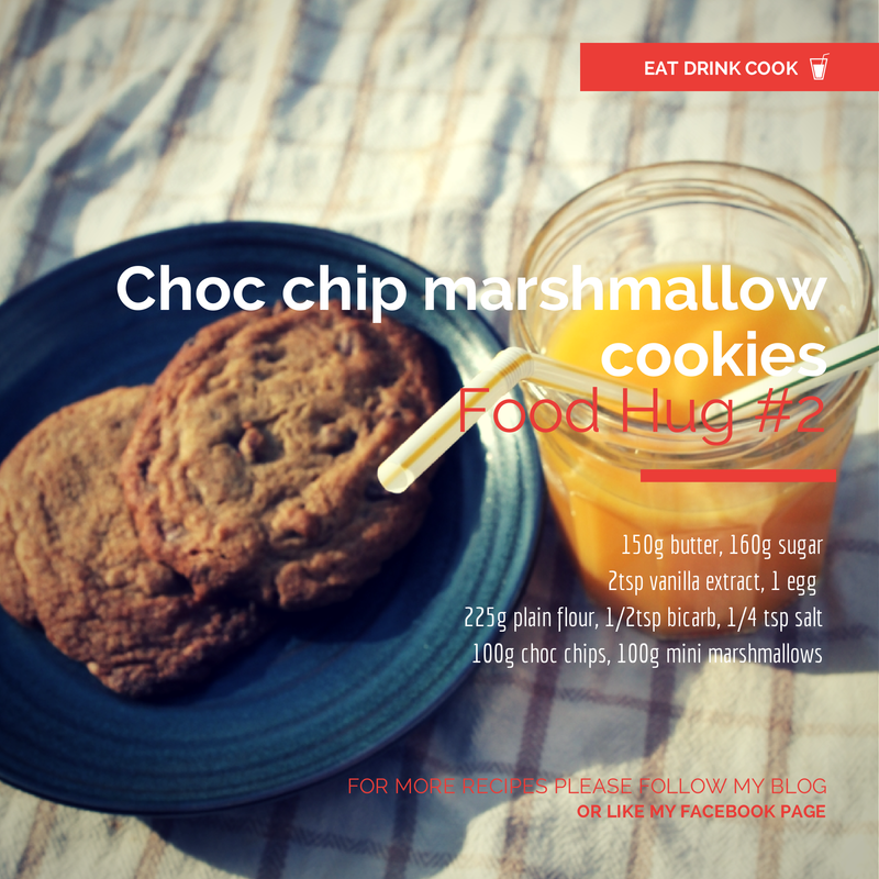 Choc chip marshmallow cookies