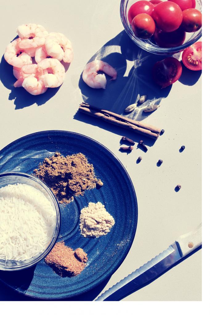 Prawn Pilau ingredients