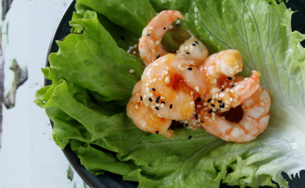 sesame sweet chilli prawns