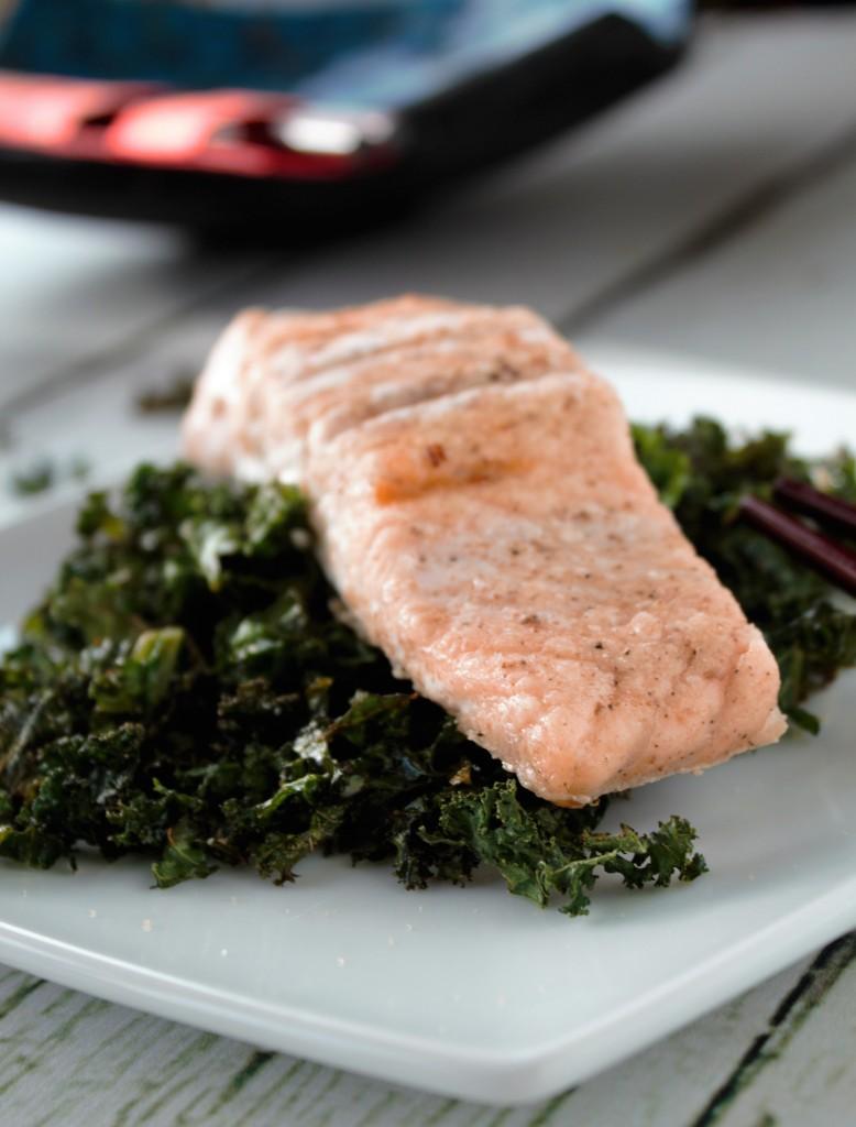 Crispy Kale, Chinese Salmon